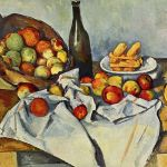 Paul Cézanne: Košík jablek (1890-1894). Olej na plátně, 65x80 cm. Repro Art Institute of Chicago